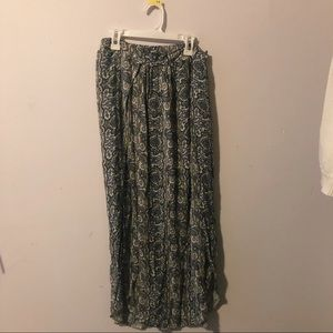 American Eagle Pasley Print Maxi Skirt with slit
